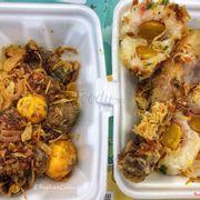 Lòng gà trứng non cháy tỏi & Xôi trứng muối thập cẩm gà 🍗