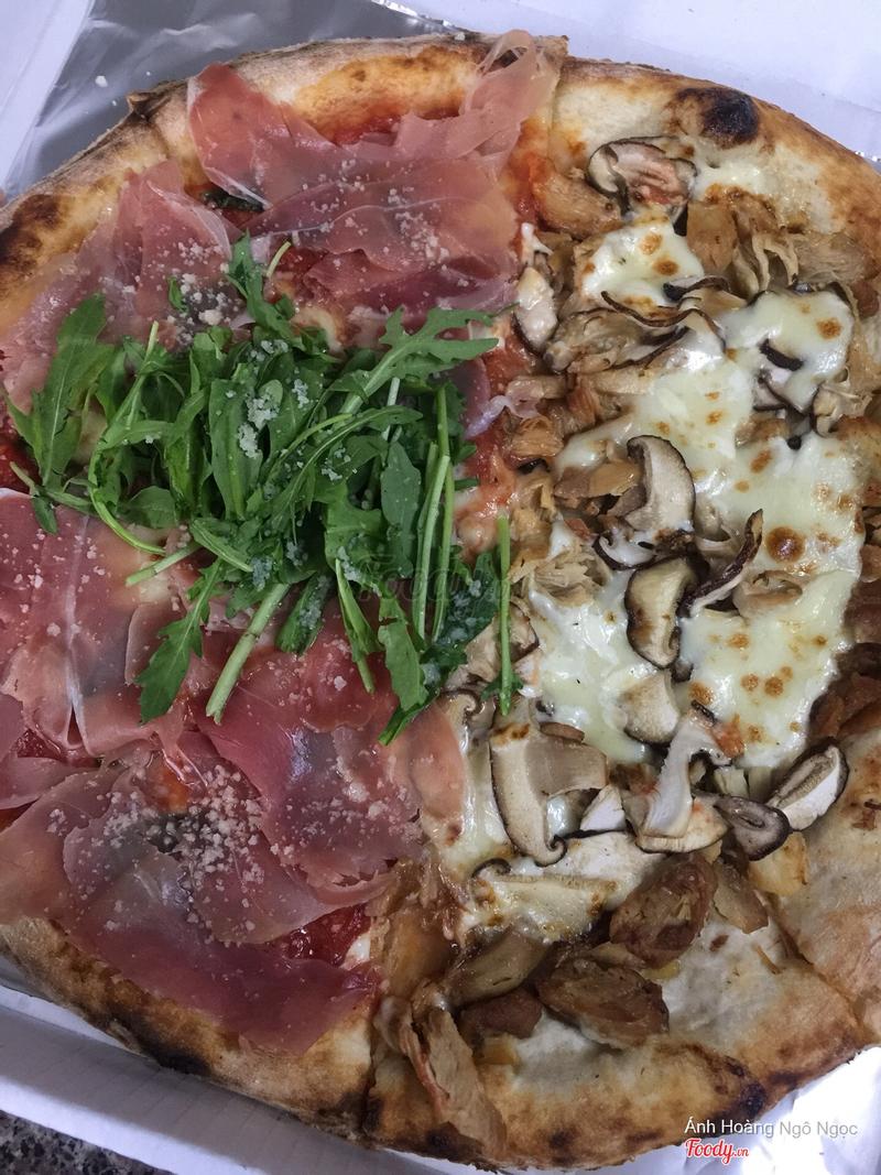 Parma ham và gà nấm