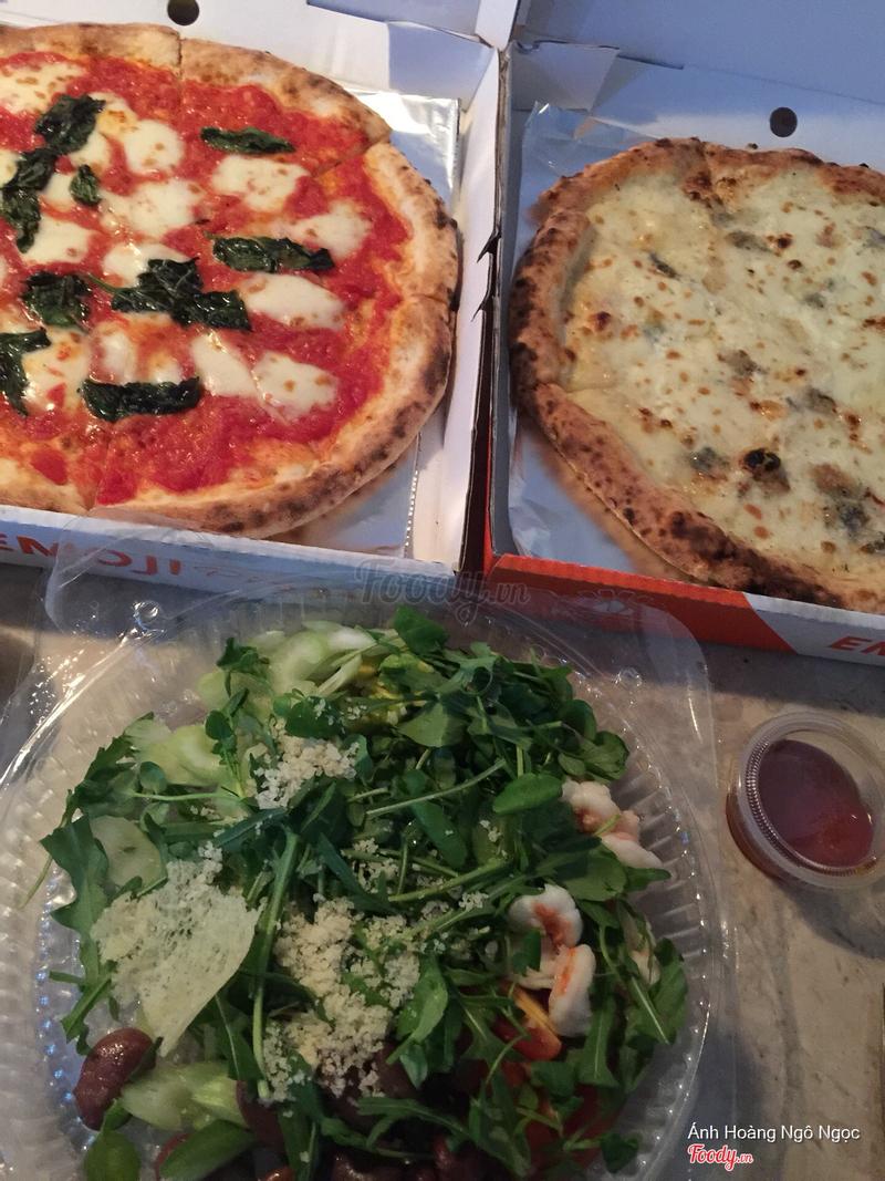 Magherita, cheese và salad tôm