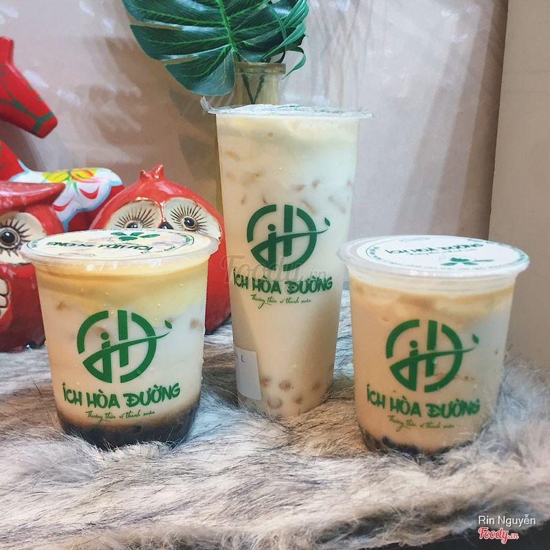 Trà sữa dừa nướng + sữa tươi nhem nhuốc kem cháy + alisan nhem nhuốc