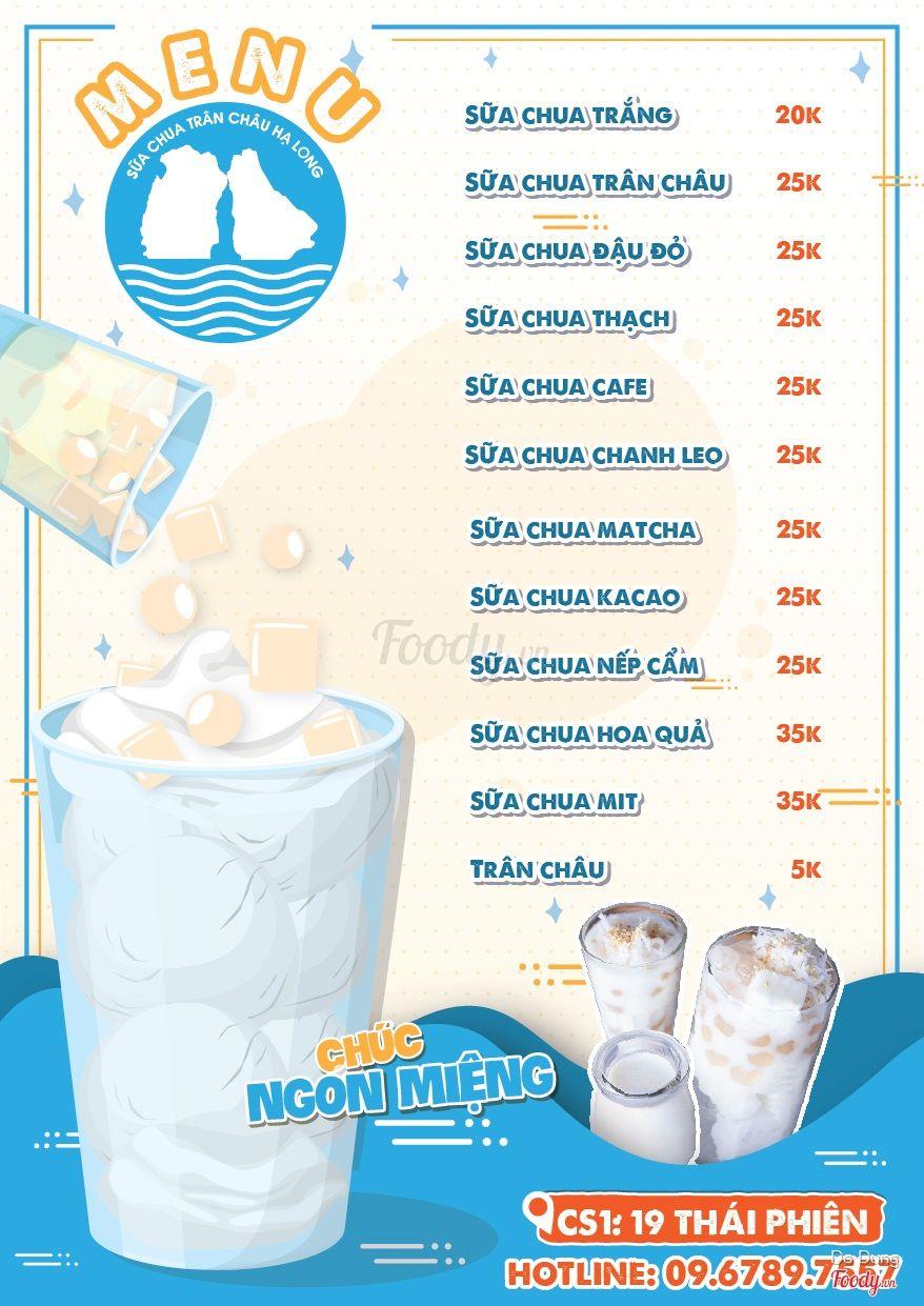 Sữa Chua Trân Châu Hạ Long - Thái Phiên ở Quận Hai Bà Trưng, Hà ...