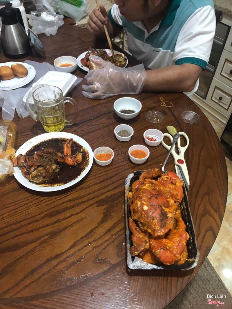 Cua gạch sốt tiêu đen - cua thịt sốt ớt