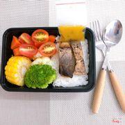 Cá basa sốt chanh dây, cơm trắng