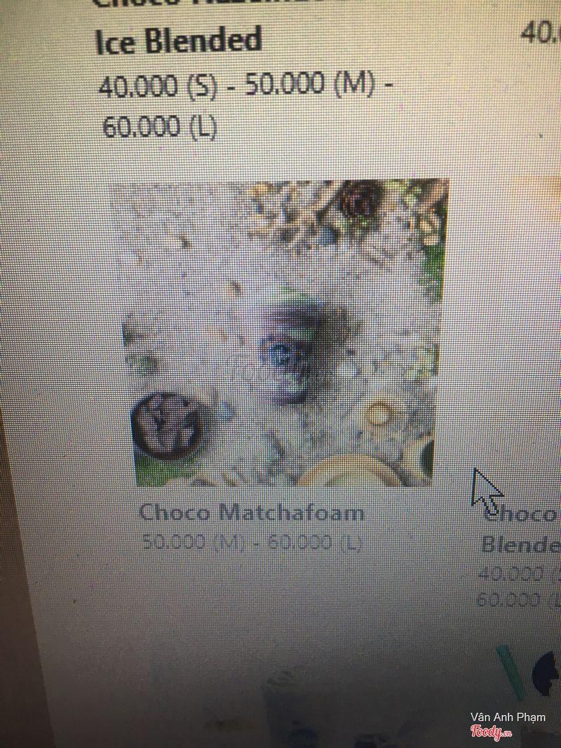 Đây là ly choco matcha foam mà mình muốn order