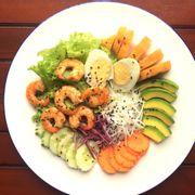 salad tôm áp chảo