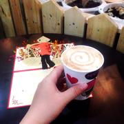 Cappuccino và thiệp 3D