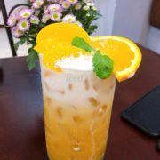 Mình đã tới trà cam đào rất ngon và đặc trưng.Mình cái chổ quán trang trí chụp hình sống ảo nữa