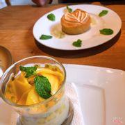 Mango Verrine & Lemon Tart
