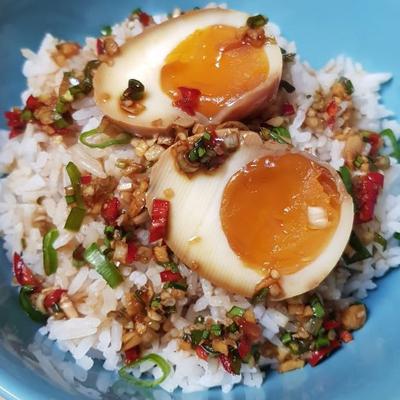 Lạ Miệng Với Trứng Hồng Đào  Ngâm Nước Tương Hàn Quốc Đúng Chuẩn