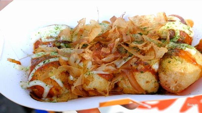 Takoyaki phô mai ăn lạ lạ đã lắm